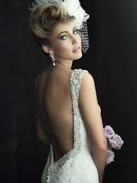 the engaged bridal dress trend backless wedding gowns